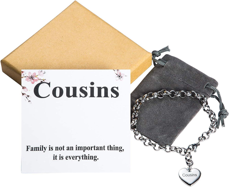 Mother Daughter Bracelets Stainless Steel Heart Charm Bracelet for Women Birthday Gifts for her