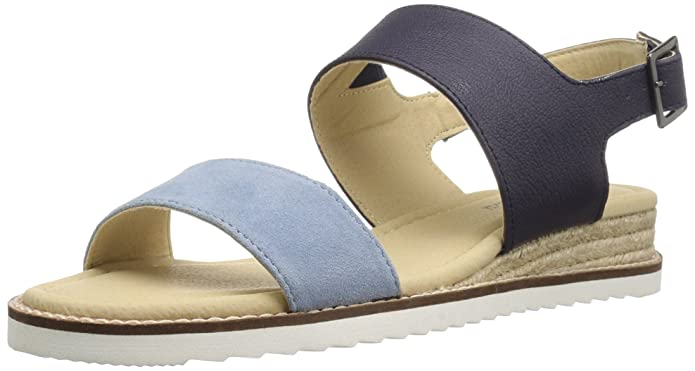 JBU by Jambu Women's Myrtle Wedge Sandal, Navy, 7.5 M US