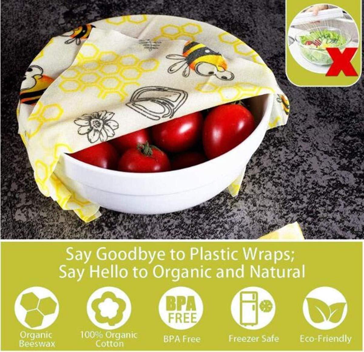 6er Set Wiederverwendbare Bienenwachst/ücher Bio Bienenwachs Lebensmittelverpackung A Beeswax Warp Wachspapier