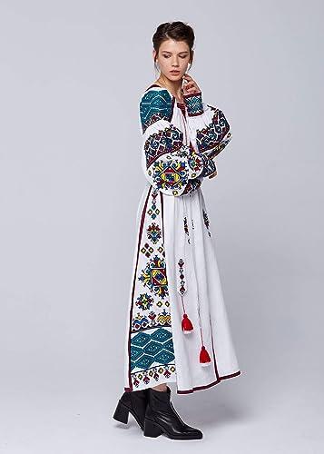 Ukrainian Dress Gift for Christmas Gift for Her Gift for Women Gift for Wife Ukrainian folk Dress Ukrainian vyshyvanka dress Boho