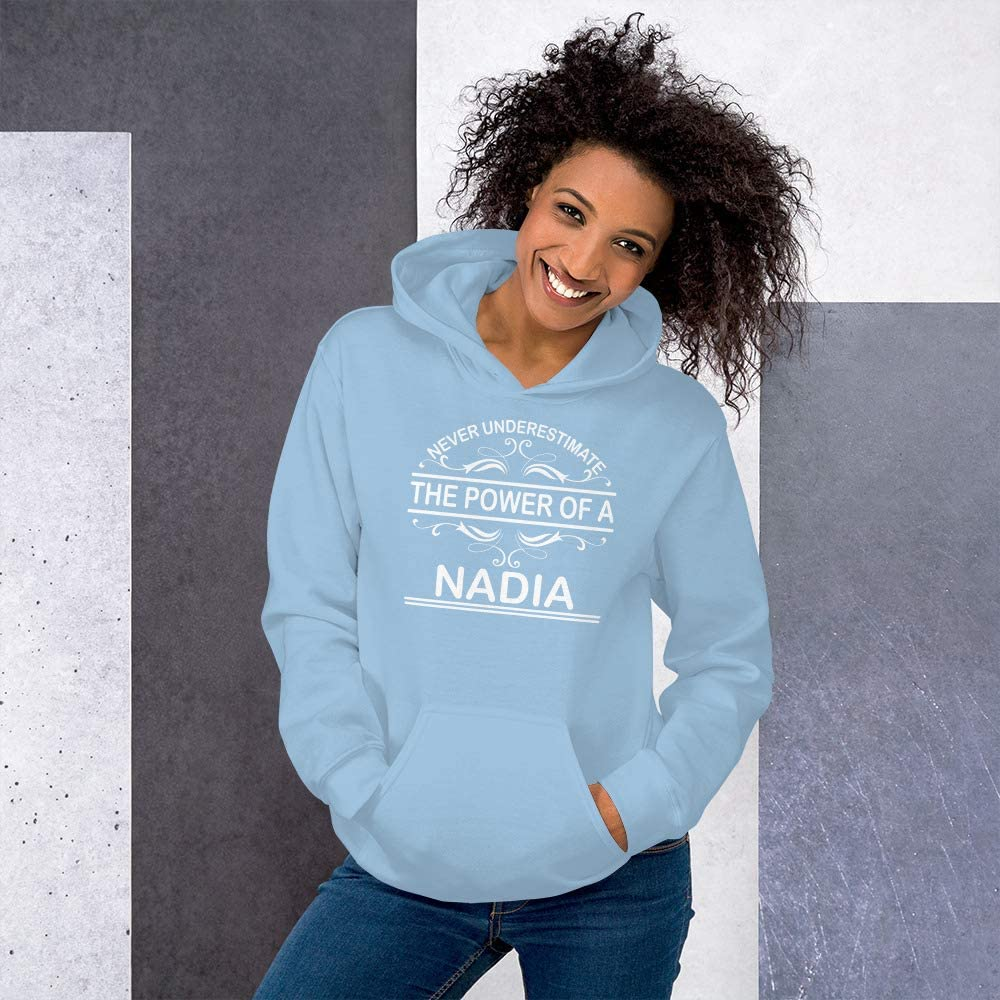 Never Underestimate The Power of Nadia Hoodie Black