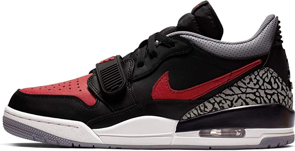 Nike Mens Air Jordan Legacy 312 Low BlackVarsity Red Leather