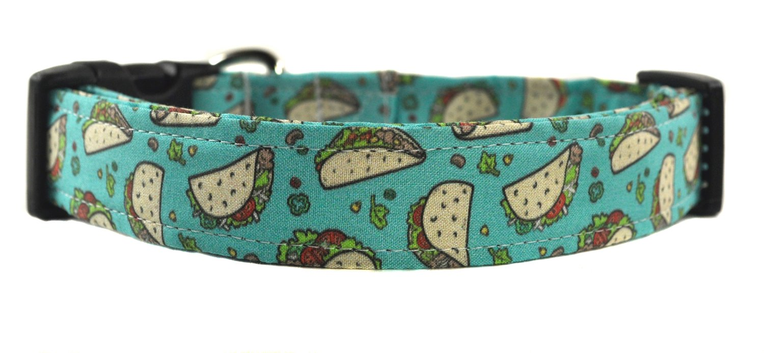 Blue and Yellow Novelty Dog Collar - The Taco Tuesday