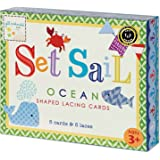 Gibby & Libby Set Sail Tri-lingual Lacing Cards Set by C.R. Gibson