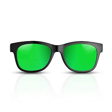 Gafas de Conducción ósea con Auriculares Inalámbricas Bluetooth con Audífonos estéreo Música Gafas de Sol a