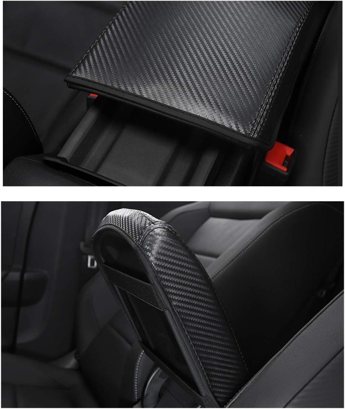Ohne Logo RUIYA t-ROC Mittelkonsole Auflagebezug Kundenspezifische Armlehne Box Soft Pad Protector mit Kohlefaser