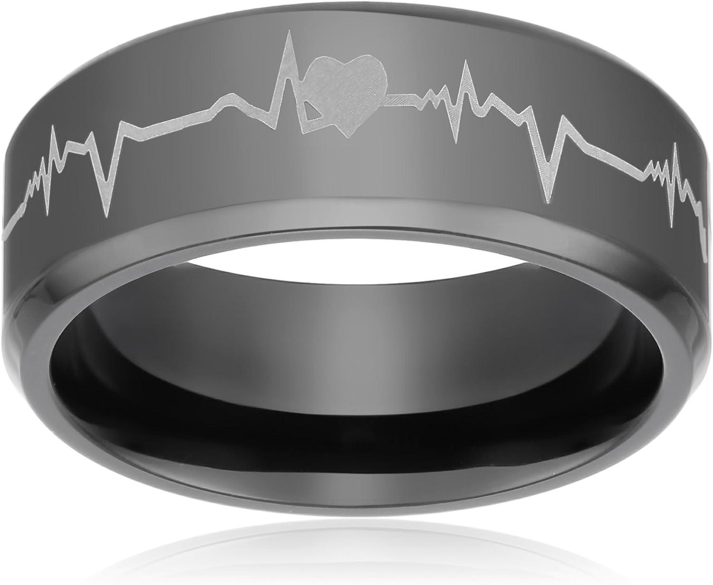 Prime Pristine Titanium Wedding Band Ring For Men Women Forever
