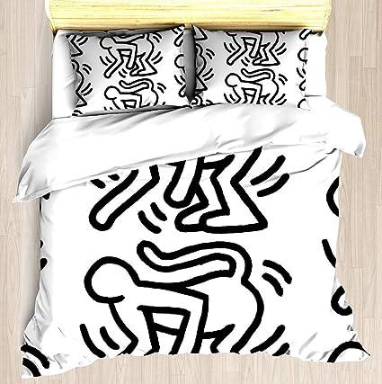 Copripiumino Keith Haring.Lis Home Set Copripiumino Keith Haring Monkey Set Copripiumino
