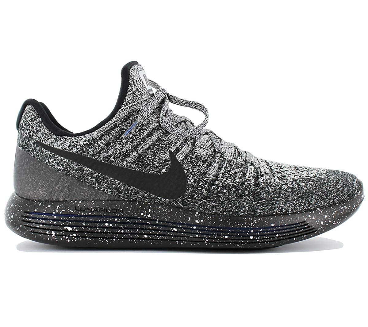 Pantalones Característica jueves  Buy Nike Men's Lunarepic Low Flyknit 2 Running Shoe Black/Black-White-Racer  Blue 11. 0 at Amazon.in