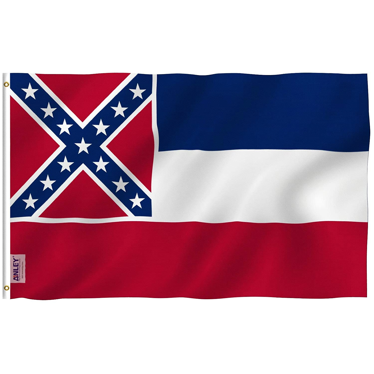 3x5 Foot Illinois State Flag,Polyester with Brass Grommets Anley Fly Breeze