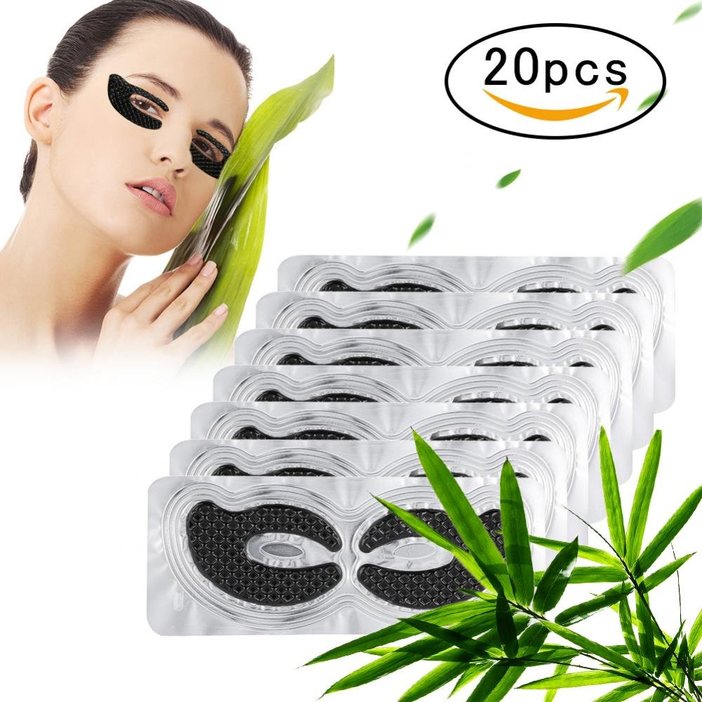 20 Pairs Bamboo Charcoal Crystal Eye pad Eye Pads, Moisture Anti Wrinkle Aging Eye Mask Relieve Fatigue Patch Yotown