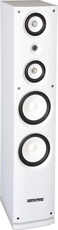 Madison MAD-858F-WH - Altavoz Hi-Fi de 180 W, color blanco