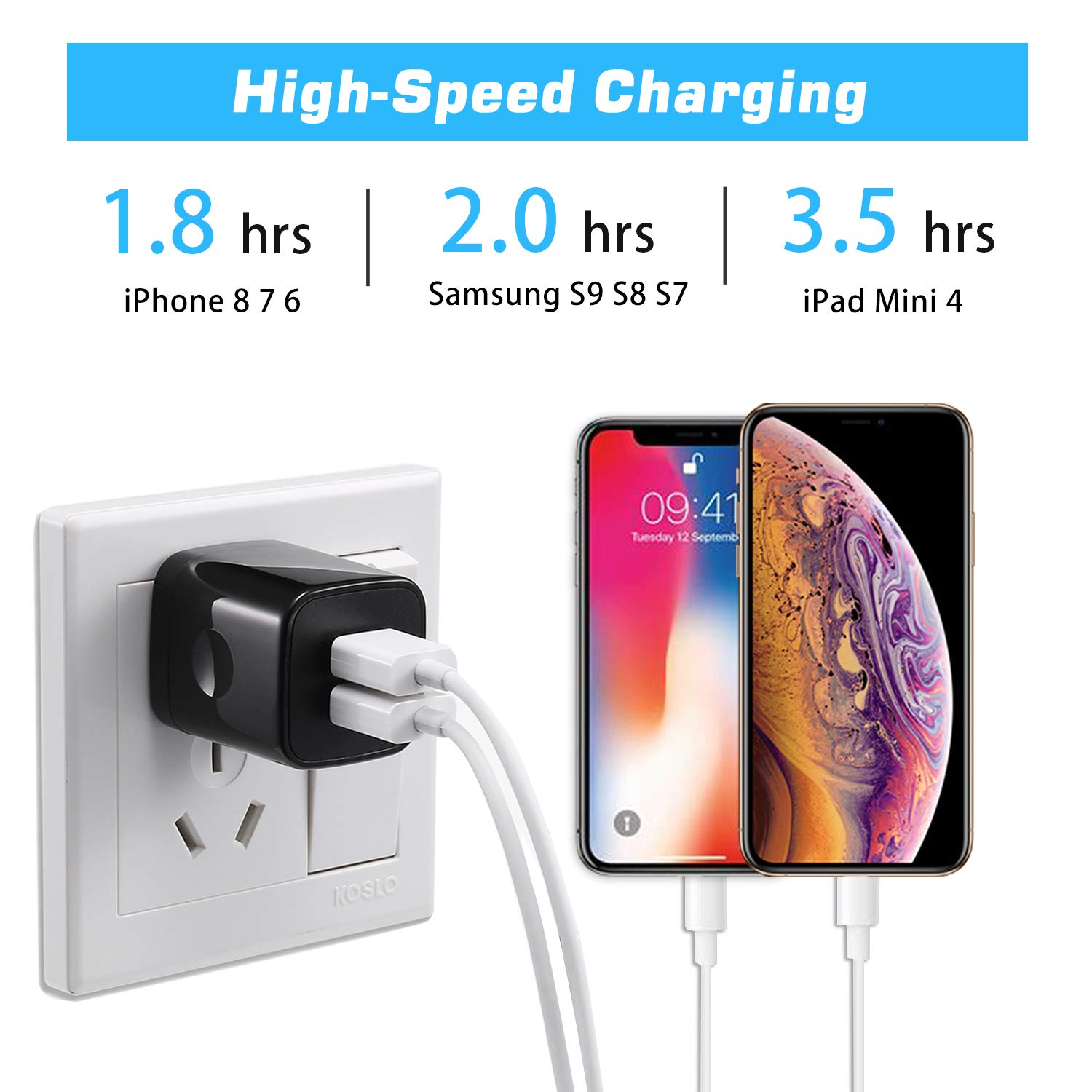 Edge Car Assesorices for Women S5 and Nexus Phones Note 5 LG G4 3 G5 iPhone 6 iPhone 7 iPhone Plus Galaxy S3 iPhone 6S S7 iPad S6 4 S4 Dual Car Universal Charger for iPhone 5