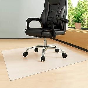 """Office Chair Mat, Chair Mat for Hardwood Floor, Floor Mats for Computer Desk, Large Office Chair Mat for Hardwood and Tile Floor Wood/Tile Protection Mat for Office & Home (36"""" x 48'')"""
