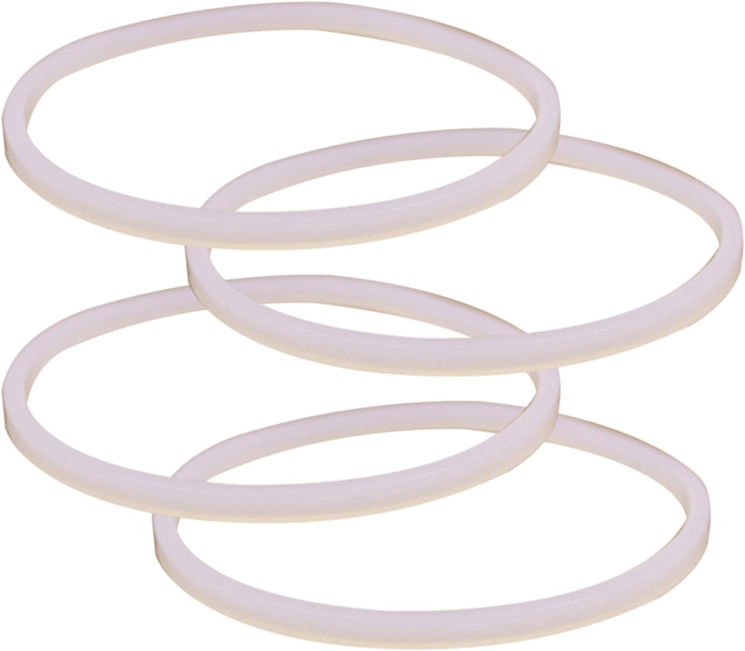 Joyparts 4 Pcs Replacement Parts Rubber Gasket Sealing White O-Ring for Ninja Blender (4pcs 3.23inch)