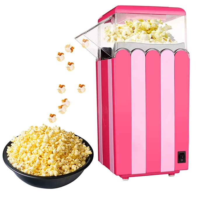 SWIGM HoLead Hot Air Popper Healthy Machine No Oil Needed 8.5-Ounce Popcorn Maker