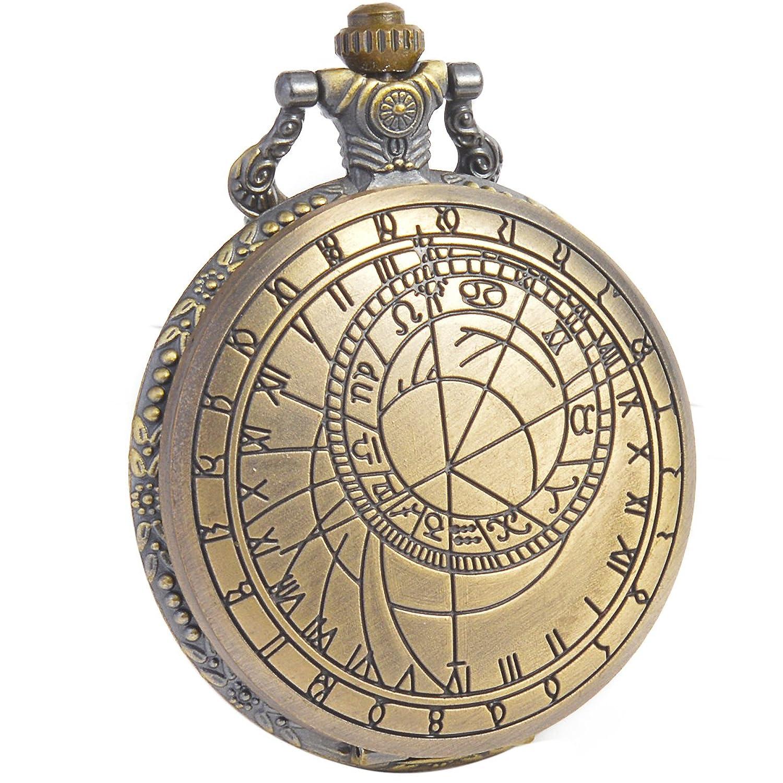 Mens pocket watches amazon sibosun doctor who pocket watch dr who men quartz chain bronze case white dial antique jeuxipadfo Image collections