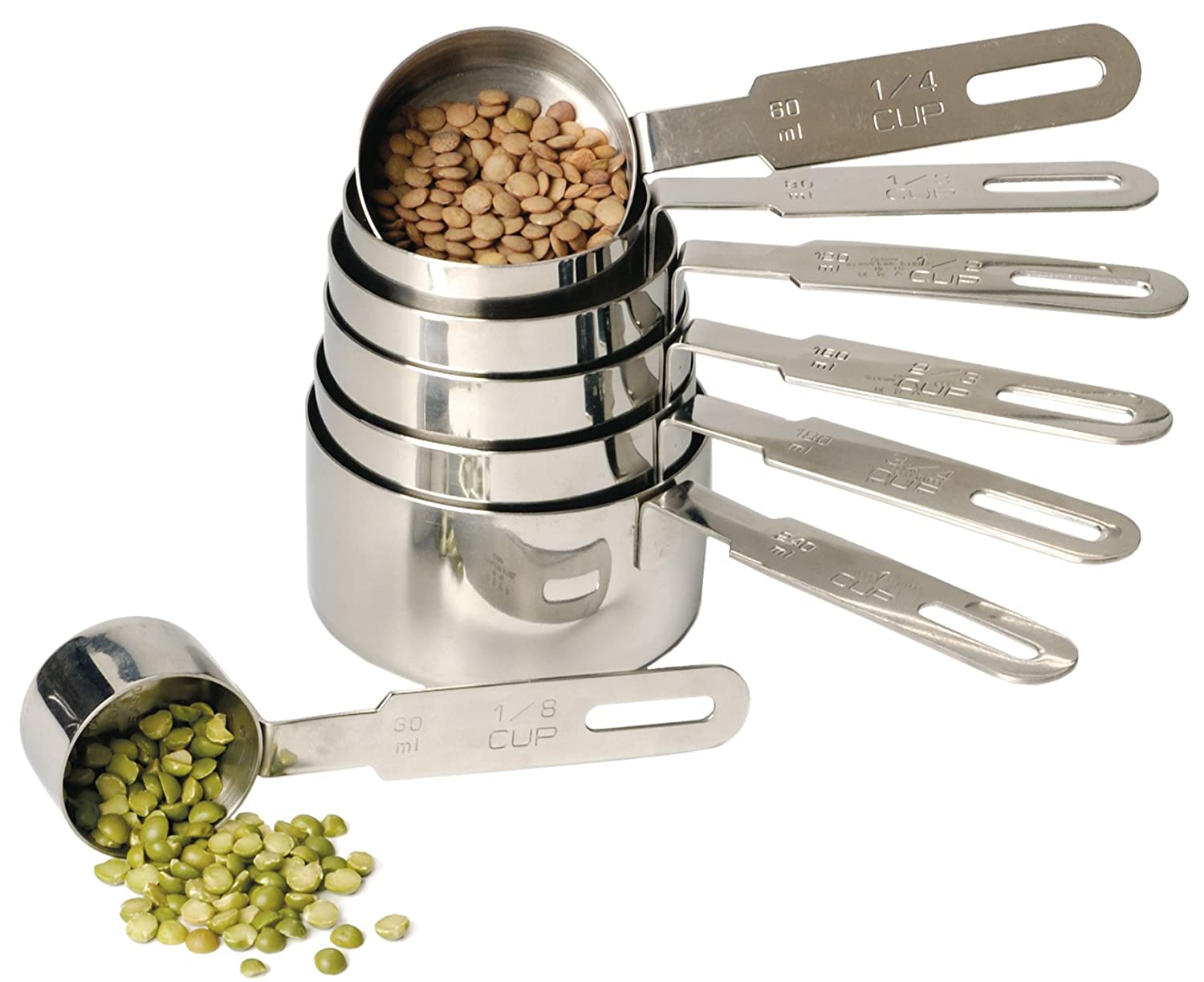 RSVP Endurance 18/8 Stainless Steel Measuring Cups, 7 Count (DMC-10) RSVP International