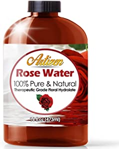 16oz - Artizen Rosewater Essential Oil (100% Pure & Natural - UNDILUTED) Therapeutic Grade - Huge 16 Ounce Bottle - Perfect for Aromatherapy
