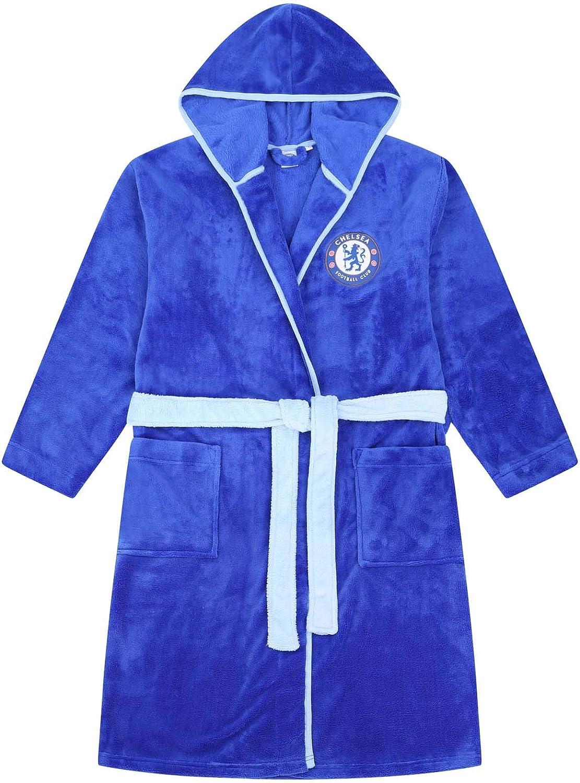 Homme Robe de Chambre /à Capuche th/ème Football Chelsea FC Officiel Polaire