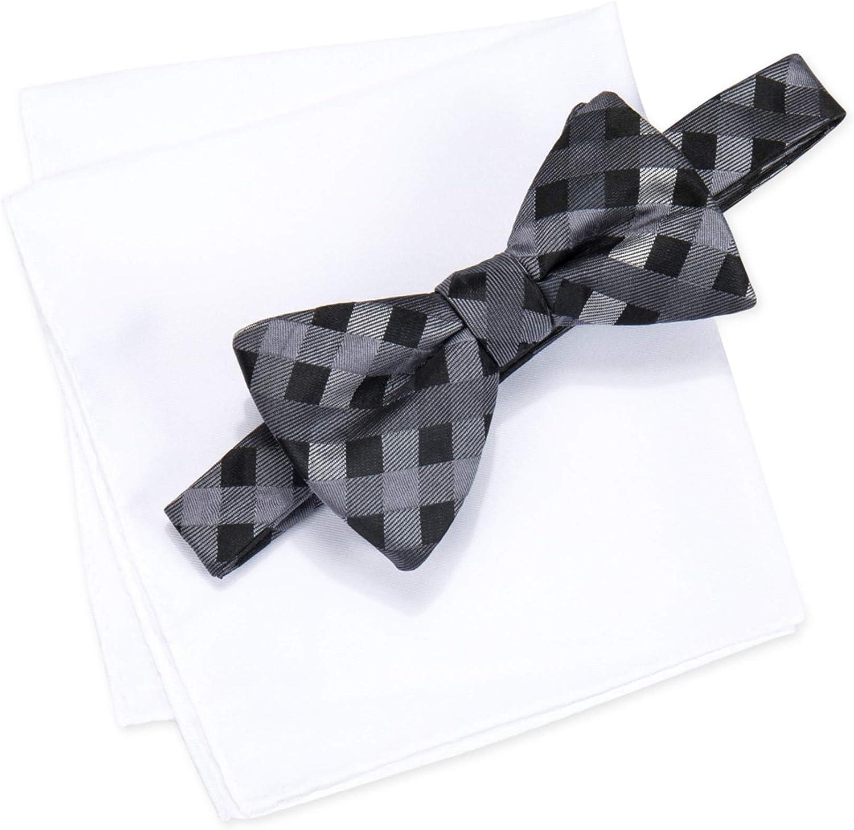 B075SMLTYC Alfani Spectrum Bow Tie & Pocket Square Set Grey 71i1rqPL6UL