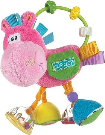 Burro de peluche multicolor para estimular la motricidad jugando, Ideal para estimular la vista, el