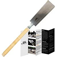 SUIZAN Japanese Pull Saw Hand Saw 9.5 Inch Ryoba Double Edge for Woodworking