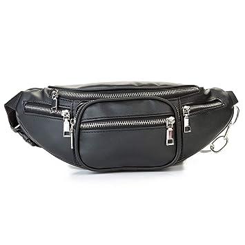 e2b25485362 MODARANI Women's Fashion Leather Fanny Pack Bum Bags Travel Waist Pack  Chest Bag