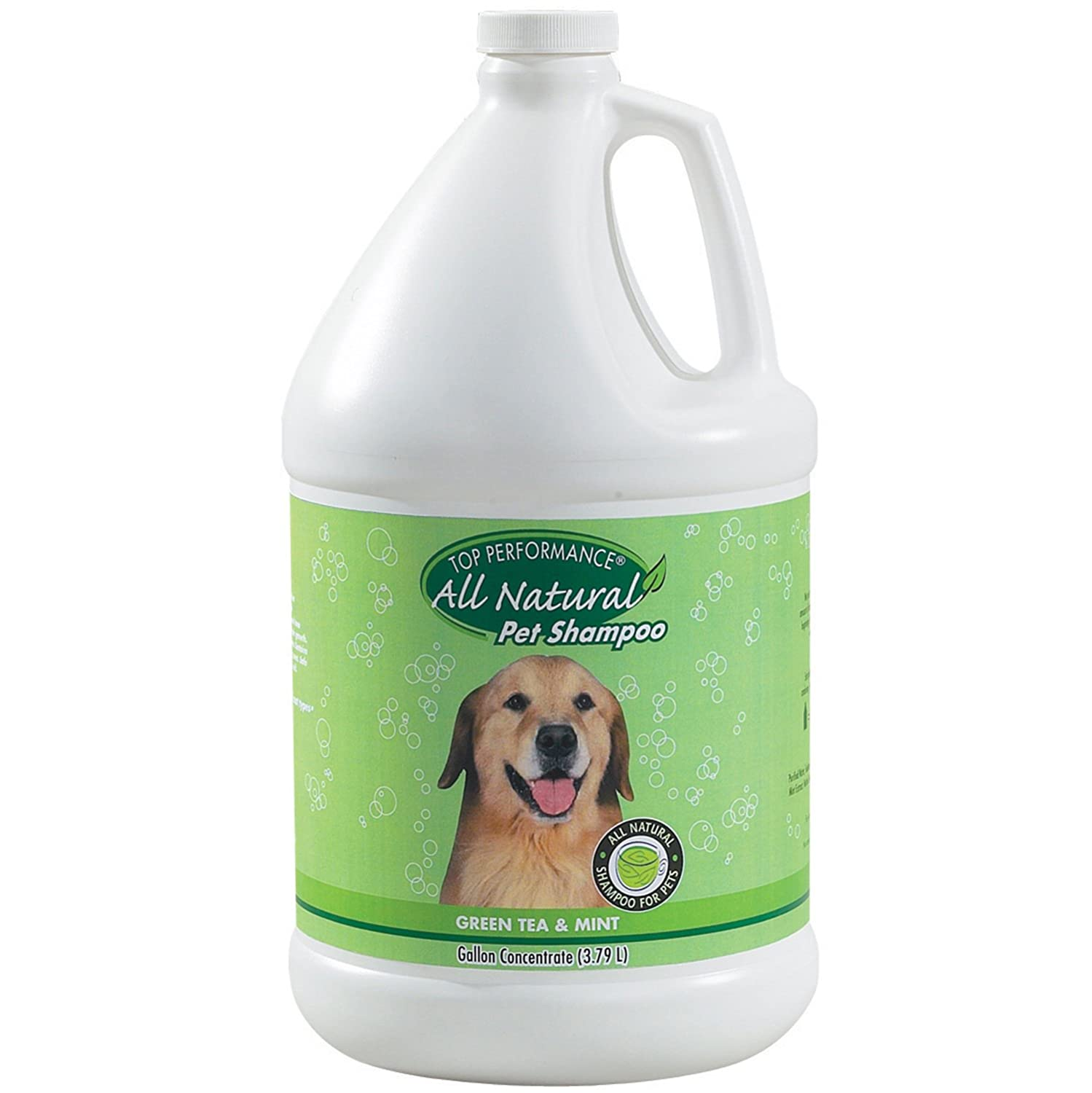 Gallon Top Performance TP560 91 Green Tea and Mint Puppies and Kittens Shampoo, 1-Gallon