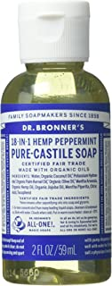 product image for Dr Bronners, Soap Liquid Castile Peppermint, 2 Fl Oz