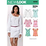 New Look Sewing Pattern 6892 Misses Tops, Size A (6-8-10-12-14-16)