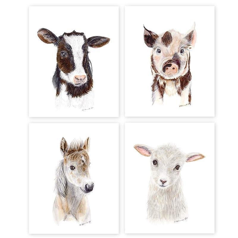 A5 Fluffy Sheep Face Farm Farmer Animal Print 21x14.8cm 280gsm #24180