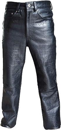 Amazon Com Pantalones Vaqueros De Piel Autentica Para Hombre Con Estampado De Cocodrilo Y Cocodrilo 501 Clothing