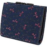 INDEN-YA 印傳屋 印伝 財布 二つ折り財布 がま口 レディース 女性用 なごみ とんぼ 7502