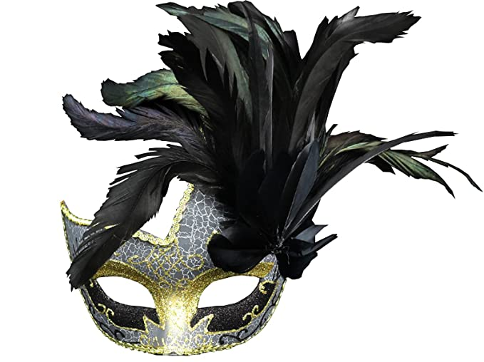 amazon com costume mask feather masquerade mask halloween mardi