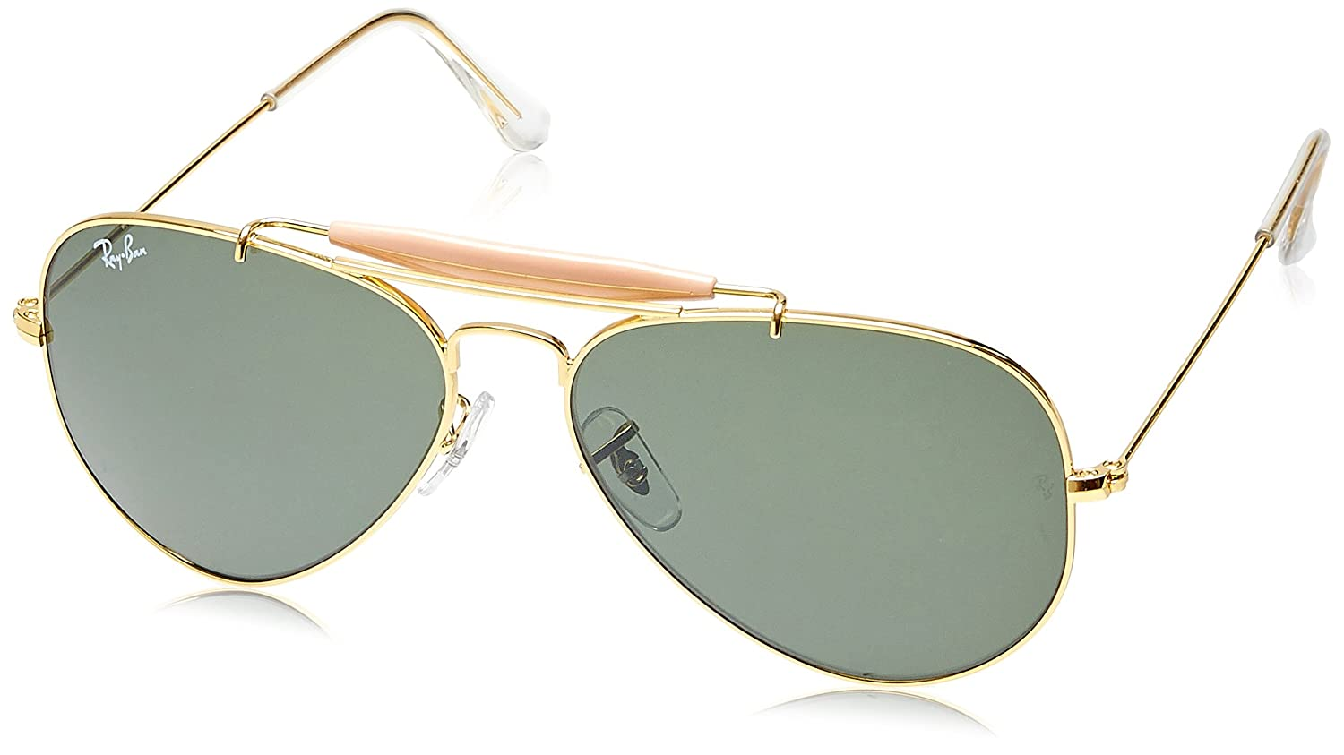 Buy Rayban Aviator Unisex Sunglasses Rb3129 W0226 58 14 58 Millimeters Green At Amazon In