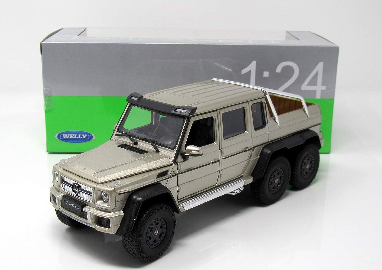 Welly 1:24 Mercedes Benz G63 AMG 6X6 Diecast Model Sports Racing Car Toy Black