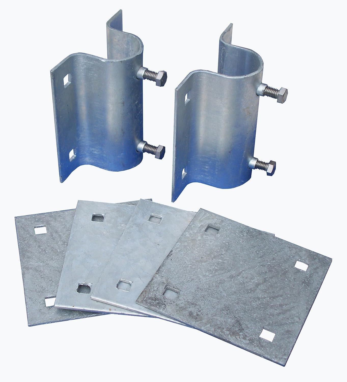 Dock Edge + Howell Dock Hardware Stationary Side Leg Holder Kit with 2 Side Leg Holders and 4 Backer Plates