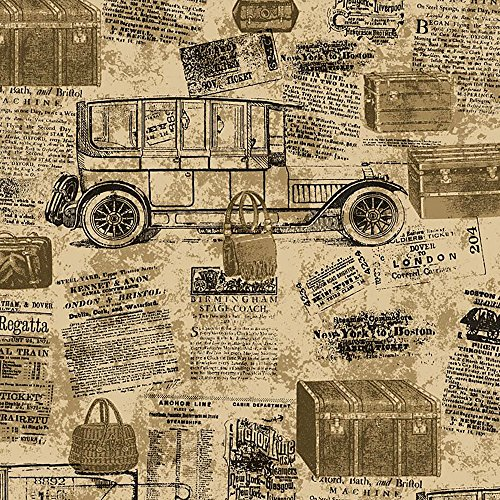 (Blooming Wall: Faux Vintage Newspaper Pattern Wallpaper Roll For Livingroom Bedroom, 20.8 In32.8 Ft=57 Sq.ft (100-F))