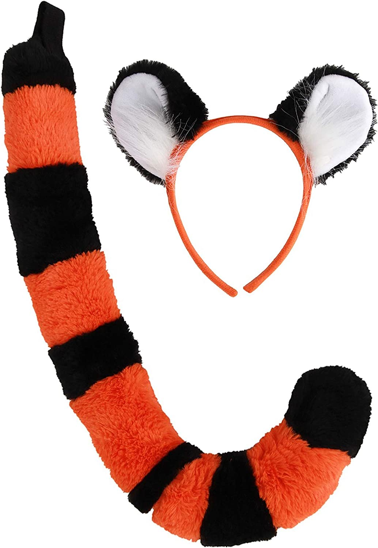 Winnie-The-Pooh Tigger Tiger Ears And Tail Fancy Dress Kids /& Adults Handmade