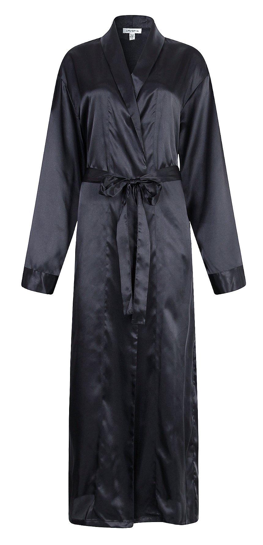 Richie House Men's Satin Robe Bathrobe RHM2840-A-L