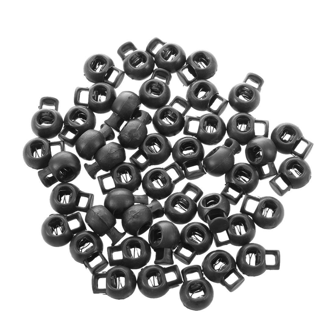 molla Cord Blocca - SODIAL(R)10 pcs Cord Stopper Blocca stopper lock fine attiva disattiva molla Sferico bianco TRTA11A