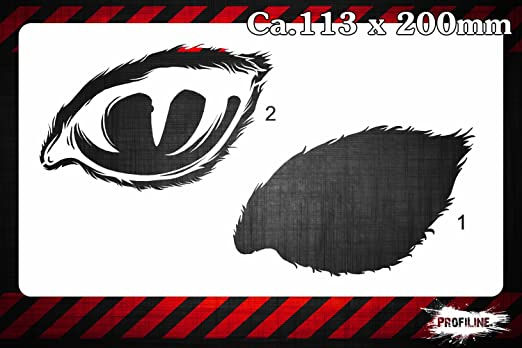 Gatos Ojo STEB by STEB SK-Brush – Plantilla – Cat Eye Stencil: Amazon.es: Hogar