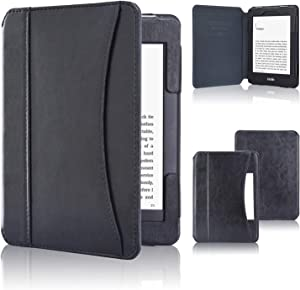 ACdream Case Fits All-New Nook Glowlight Plus 7.8 Inch 2019 Release, Folio Premium PU Leather Cover Case for Barnes&Noble Nook Glowlight Plus 7.8 Inch Ereader, Black