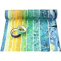 12 rollen blauwe Washi Tape, afplakband voor Scrapbook, DIY, ambachten, Bullet Journal, Planners Gift (Van Gogh)