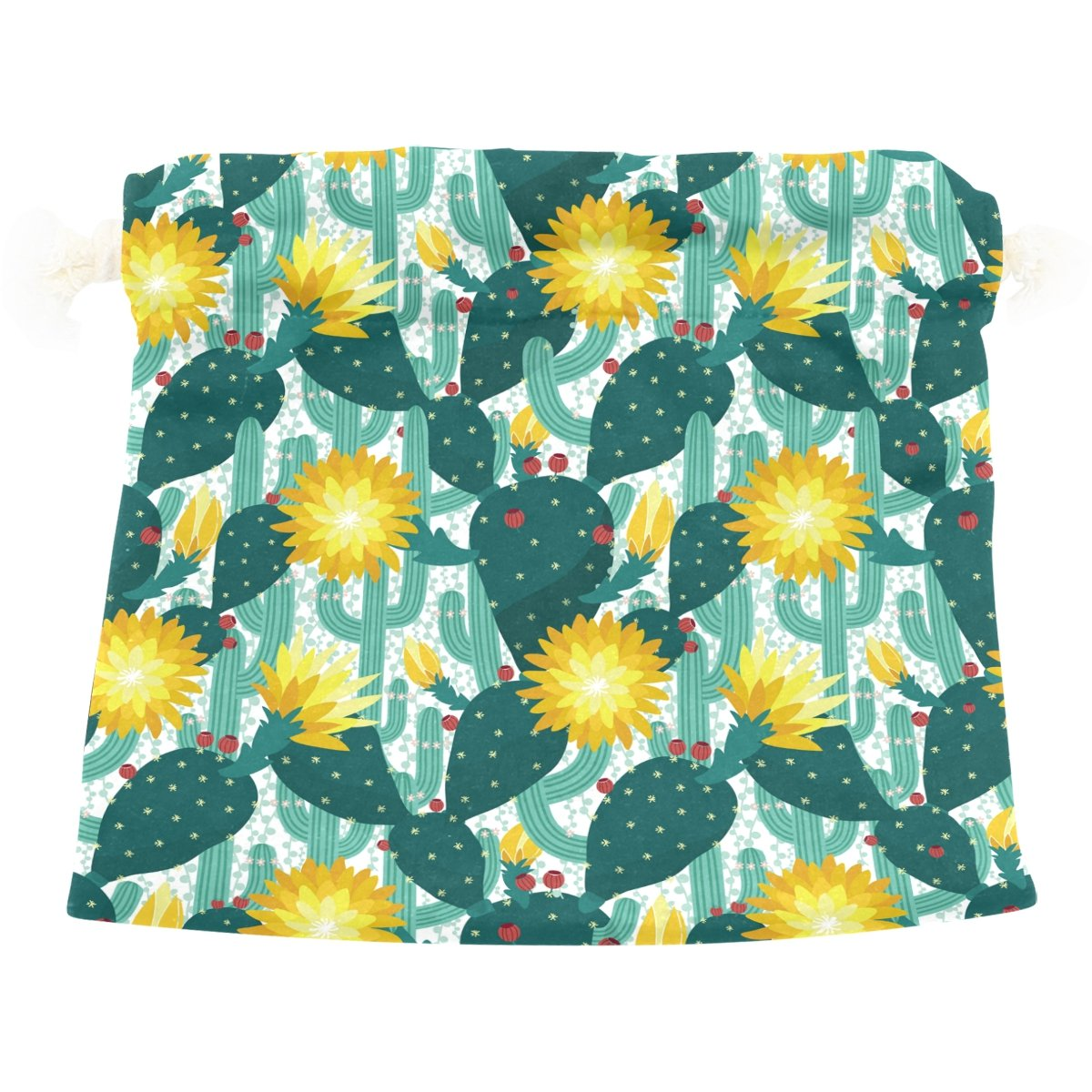 Dragon Sword Tropical Green Cactus Gift Bags Jewelry Drawstring Pouches for Wedding Party, 6x8 Inch