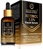 HONEST CHOICE Retinol Face Serum 30ml Blended With Vitamin C And Vitamin E, Glycolic Acid   Anti Aging   Sun Protection   Skin Whitening And Brightening Serum.