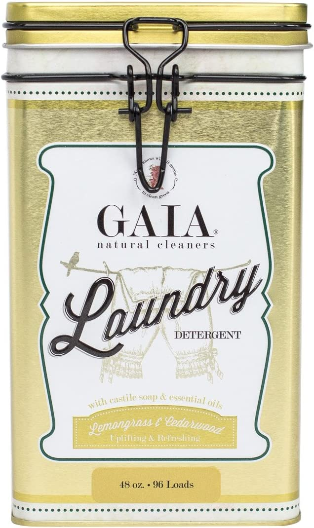 Gaia Natural Cleaners Castile Laundry Detergent with Lemongrass and Cedar Wood Essential Oil
