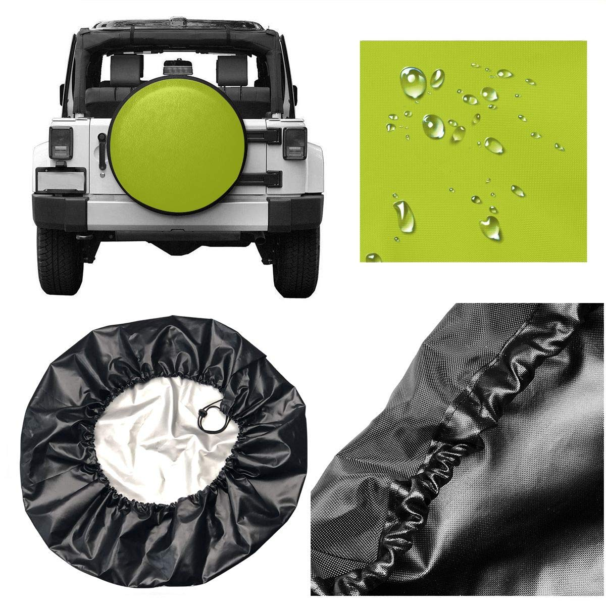 les SUV remorques v/éhicules de loisirs Enjoliveur les camions et de nombreux v/éhicules housse de roue de secours Kermit la grenouille fixant la housse de pneu de remorque Camper Rvs pour Jeep