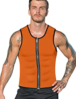 a1181b37780f2a NonEcho Men Sauna Sweat Vest Weight Loss Waist Trainer Vest Neoprene Tank  Top Shapewear Slimming Shirt